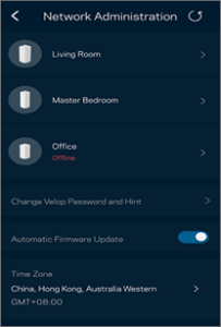 reset the nodesLinksys Velop to factory settings