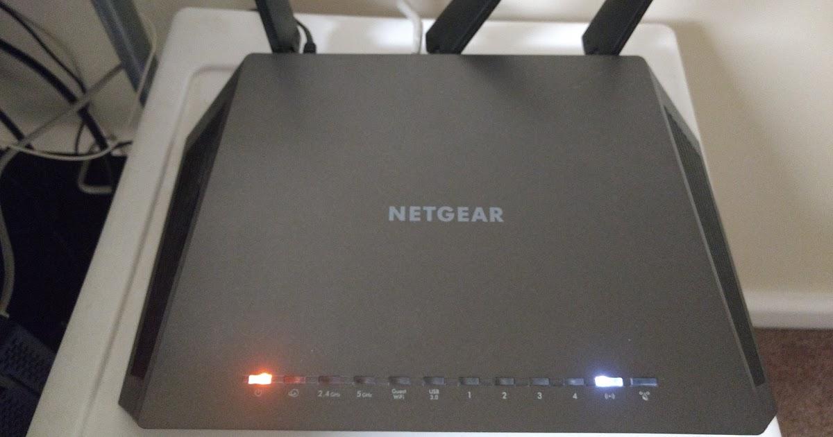 Netgear router internet light orange