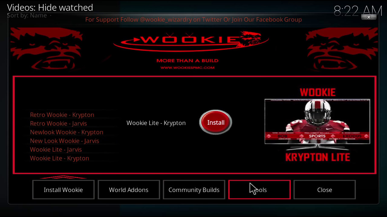 How to install Kodi 17 Wookie build & Wizard on Firestick