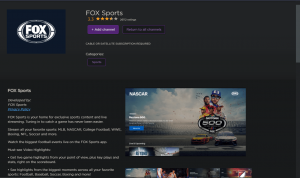 Install and Stream Fox Sports on Roku
